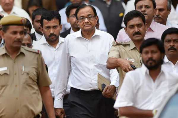 p-chidambaram-appears-on-summoned-by-cbi-in-aircel-maxis-case