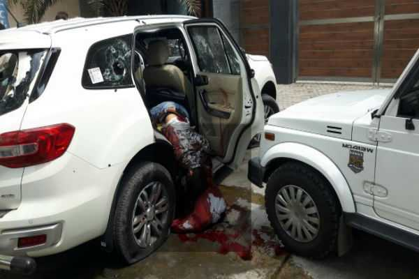 gangster-rajesh-bharti-and-three-other-wanted-criminals-were-killed-in-south-delhi-s-chhatarpur-area-eight-delhi-police-personnel-were-injured-in-the-encounter