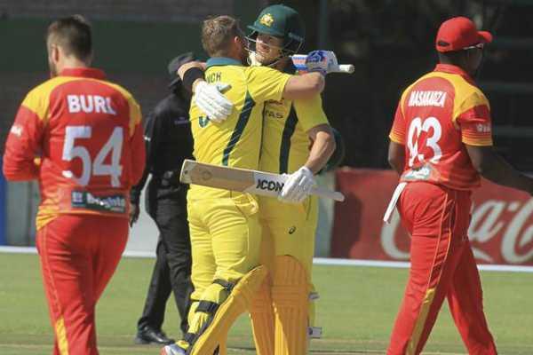 australia-beats-zimbabwe-by-100-runs-in-t20-tri-series