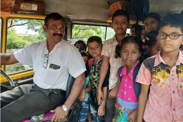 udupi-teacher-buys-bus-turns-driver-all-to-ensure-students-don-t-drop-out-of-school