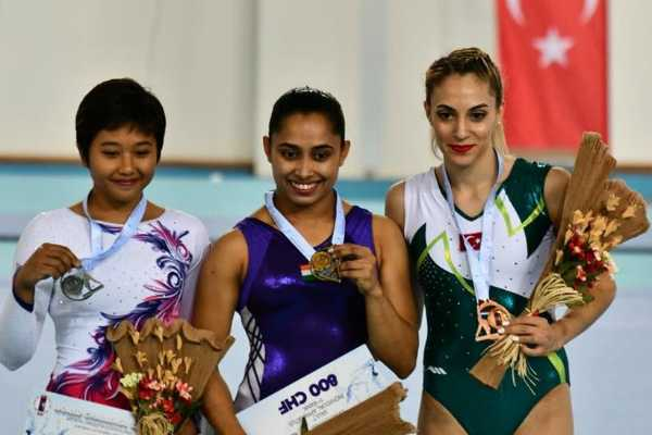 dipa-karmakar-wins-gold-medal-in-fig-artistic-gymnastics-world-challenge-cup