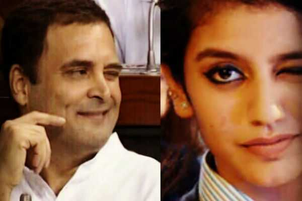 will-rahul-s-wink-after-speaking-for-no-confidence-motion-be-able-break-the-record-of-priya-variar-wink
