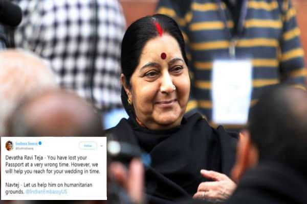 sushma-swaraj-assures-help-to-man-who-lost-passport-days-before-his-wedding