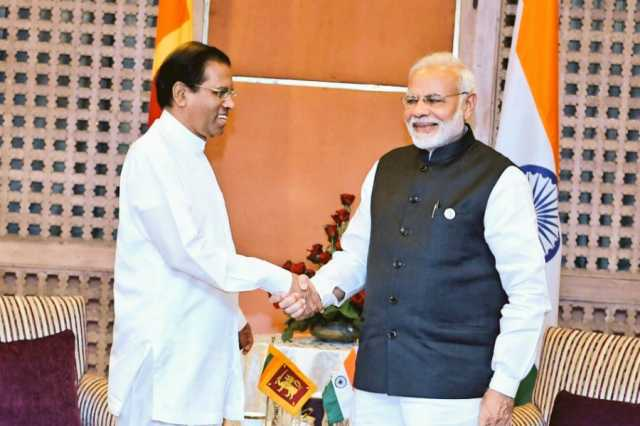 modi-meets-sri-lankan-president-sirisena