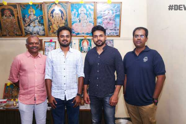 karthi-s-dev-movie-s-dubbing-begins