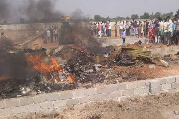 iaf-s-kiran-aircraft-crash-lands-in-telangana-trainee-pilot-escapes-with-injuries