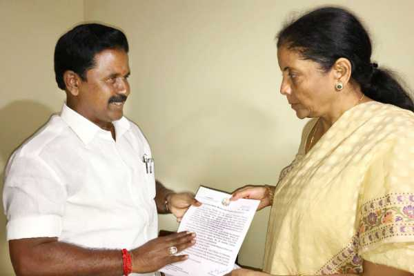 minister-kamaraj-petition-requested-to-union-minister-nirmala-seetharaman