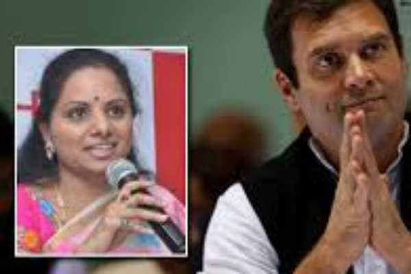 kcr-s-daughter-dares-rahul-to-support-telangana-demands-in-parliament