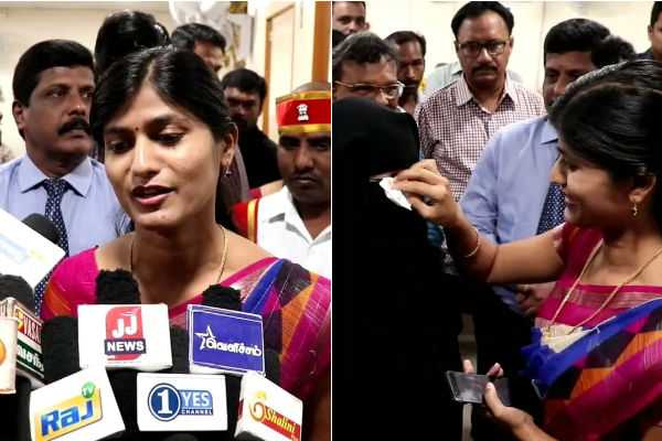 the-district-collector-rohini-came-to-the-bank-for-educational-support-of-the-student