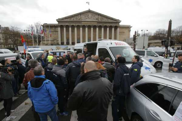 french-ambulance-workers-join-protests-as-crisis-talks-held
