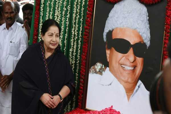 jayalalithaa-s-feet-fell-on-the-aiadmk-sprinkled-mgr