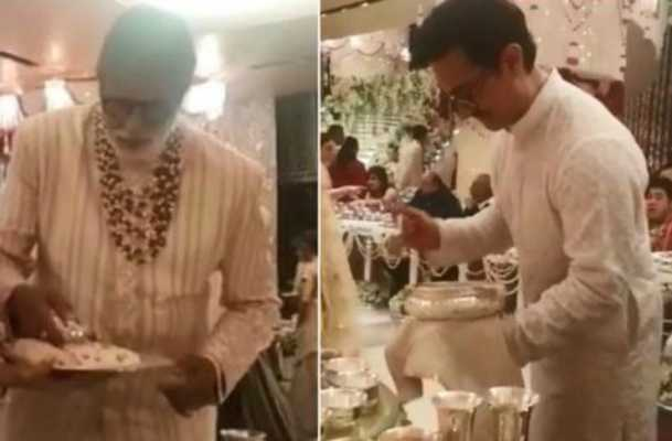 videos-of-amitabh-bachchan-and-amir-khan-serving-food-at-ambani-wedding-goes-viral