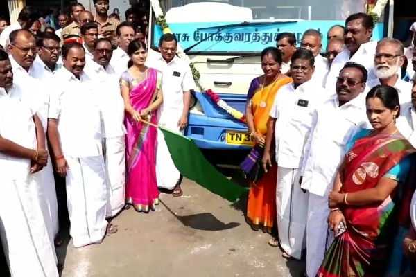 new-buses-at-salem-inaugurated-by-salem-collector-rohini