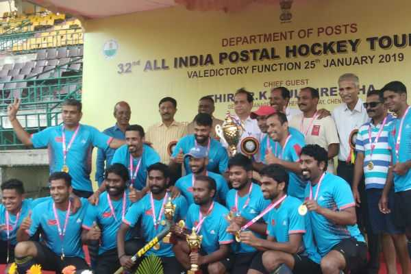 karnataka-won-the-tile-in-all-india-postal-hockey-tournament-at-chennai