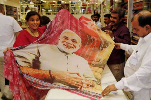 surat-shop-launches-modi-saree-creates-a-buzz-among-women