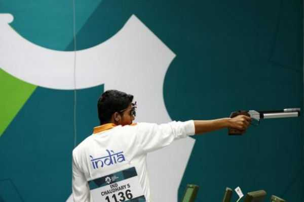 saurabh-chaudhary-bags-first-senior-gold-with-world-record
