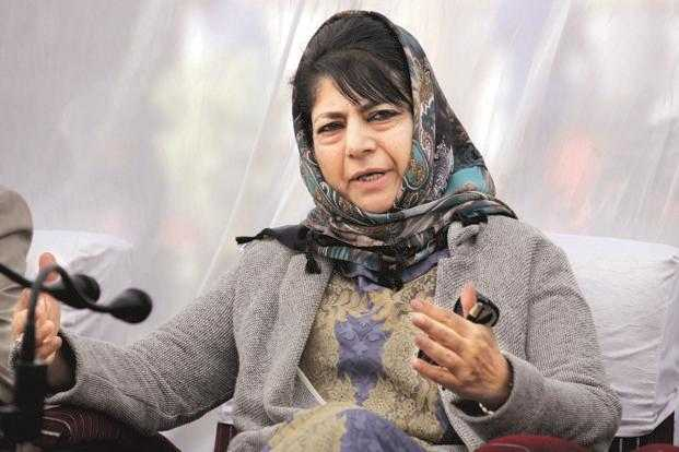 bjp-urges-to-arrest-mehbooba-mufti-for-supporting-banned-organisation