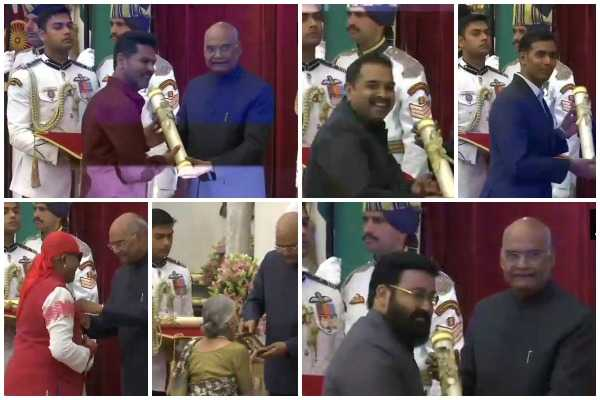 padma-awards-2019-prabhu-deva-shankar-mahadevan-mohanlal-and-more-conferred-with-honours