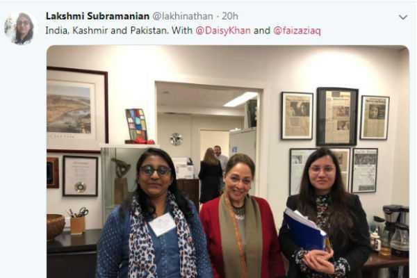 women-journalist-lakshmi-subramanian-mentioned-on-her-twitter-page-that-kashmir-is-a-separate-country