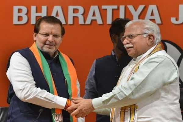 congress-mp-arvind-sharma-joined-in-bjp