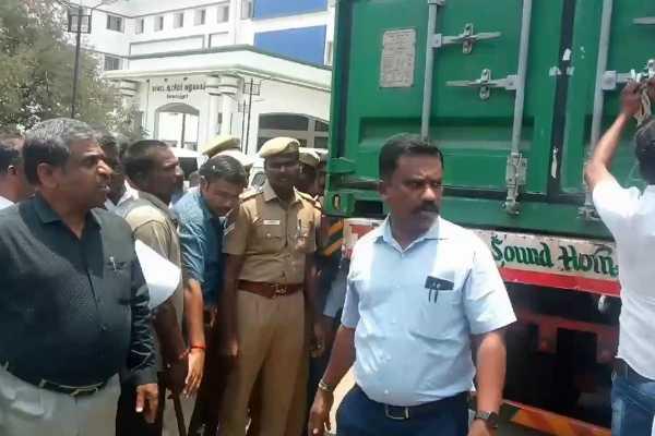 kovai-container-lorry-seized