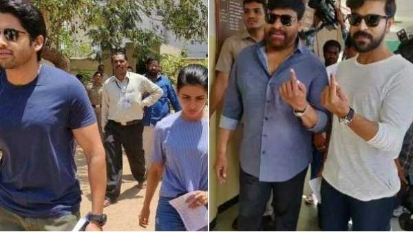 chiranjeevi-allu-arjun-samantha-akkineni-and-more-celebs-cast-their-vote-in-elections-2019