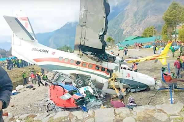 3-killed-as-plane-hits-two-helicopters-while-taking-off-in-nepal