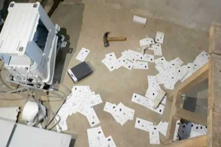 west-bengal-an-evm-was-vandalized-during-a-clash-between-tmc-and-bjp-workers-in-chopra