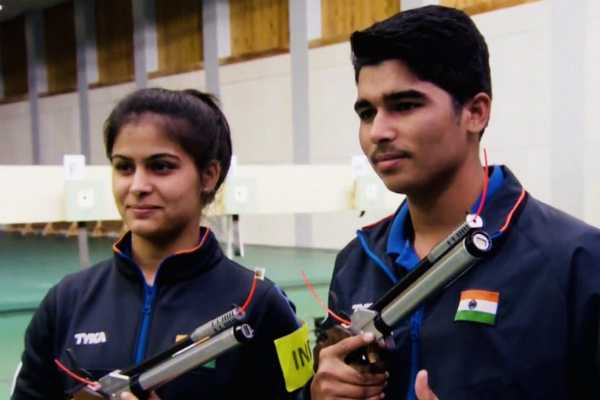 manu-bhaker-and-saurabh-chaudhary-win-gold-in-10m-air-pistol-mixed-team-event