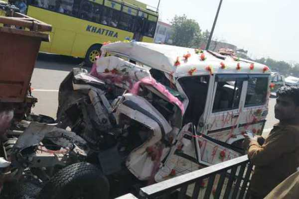 bride-3-others-killed-as-suv-carrying-newlyweds-collides-with-combine-in-ludhiana