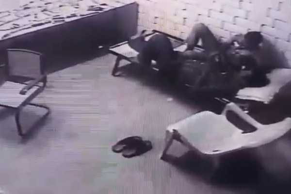 two-officers-are-inappropriate-action-in-police-dress