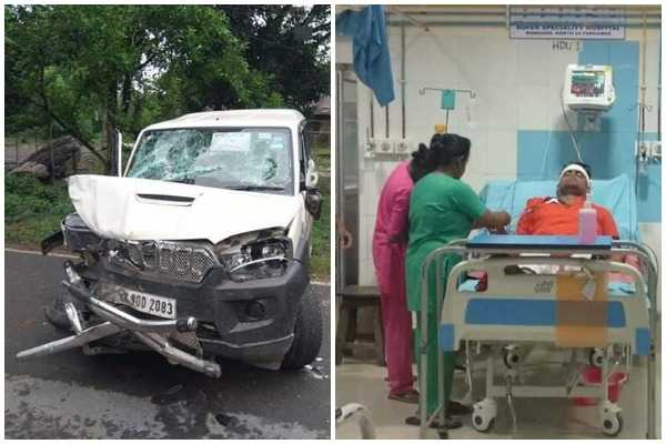 bengal-bjp-candidate-hospitalised-after-suv-rams-into-his-car