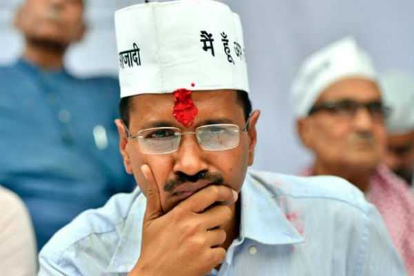 chief-minister-arvind-kejriwal-slapped-by-a-man-during-roadshow-in-delhi