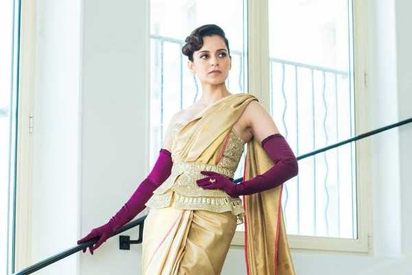 kangana-ranaut-wears-golden-saree-at-cannes-2019-red-carpet