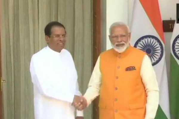 prime-minister-narendra-modi-meets-sri-lankan-president-maithripala-sirisena-at-hyderabad-house