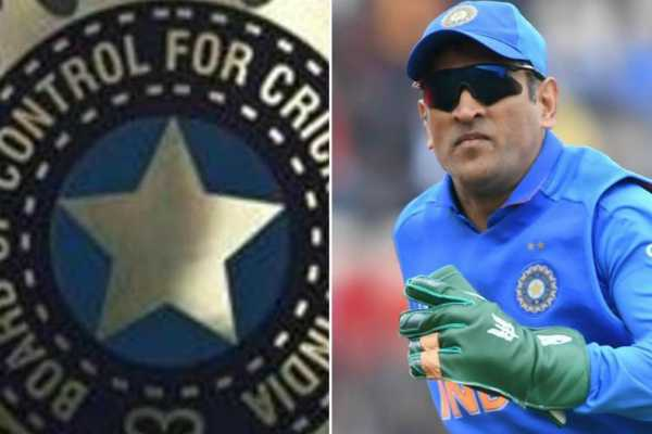 coa-chief-vinod-rai-on-balidaan-insignia-on-wicket-keeper-ms-dhoni-s-gloves