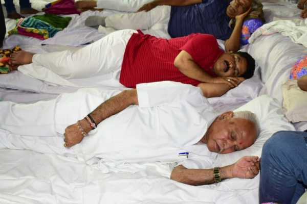 bjp-state-chief-bs-yeddyurappa-and-other-bjp-leaders-during-the-party-s-all-night-dharna-in-bengaluru