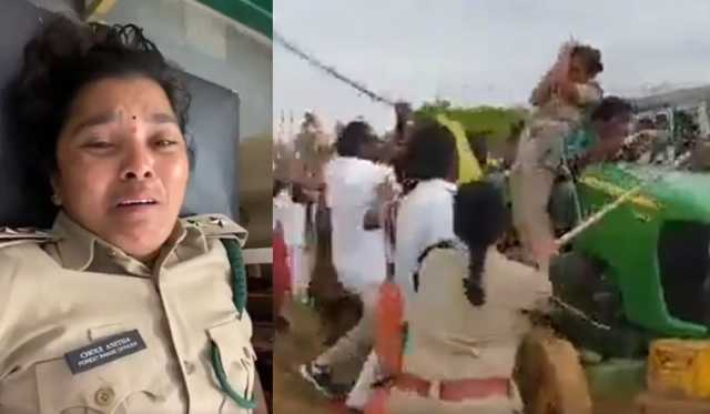 trs-workers-thrash-woman-forest-officer-in-telangana