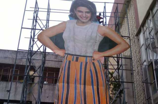 huge-cut-out-for-samantha-movie