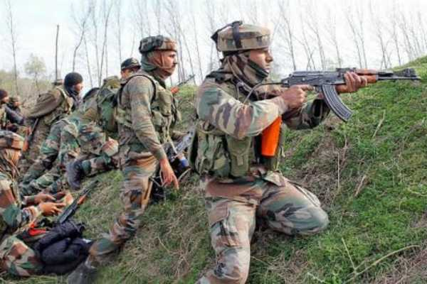 jammu-kashmir-an-exchange-of-fire-between-terrorists-and-security-forces-is-underway-in-narwani-area-of-shopian-district