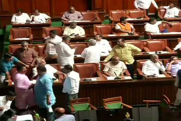 bengaluru-bjp-mlas-inside-the-state-assembly-after-the-house-was-adjourned-for-the-day