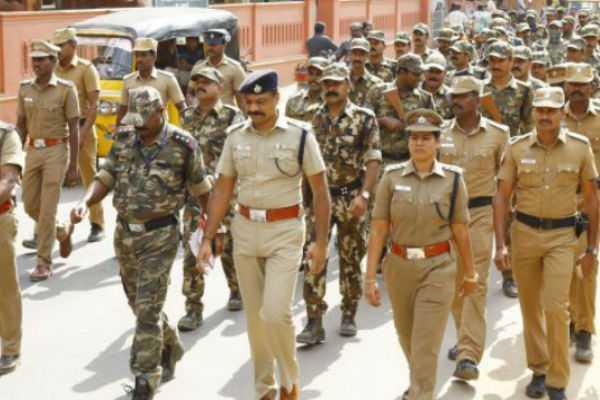 vellore-lok-sabha-election-paramilitary-forces-arrive