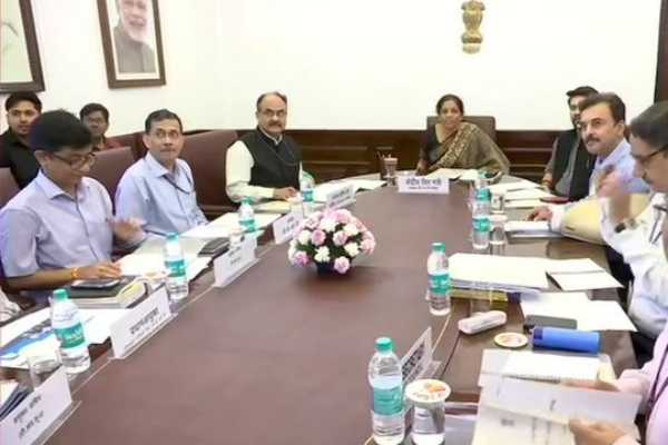 delhi-union-finance-minister-nirmala-sitharaman-holds-gst-council-meeting-through-video-conferencing-at-ministry-of-finance
