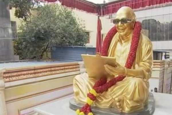 the-statue-of-former-chief-minister-karunanidhi-opens