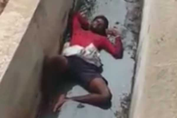 young-man-resting-in-a-sewer-a-viral-video