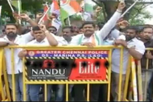 congress-party-protests-against-arrested-of-p-chidambaram