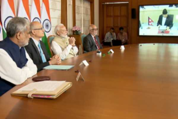 pm-modi-and-nepal-pm-jointly-inaugurate-to-petroleum-product-pipeline