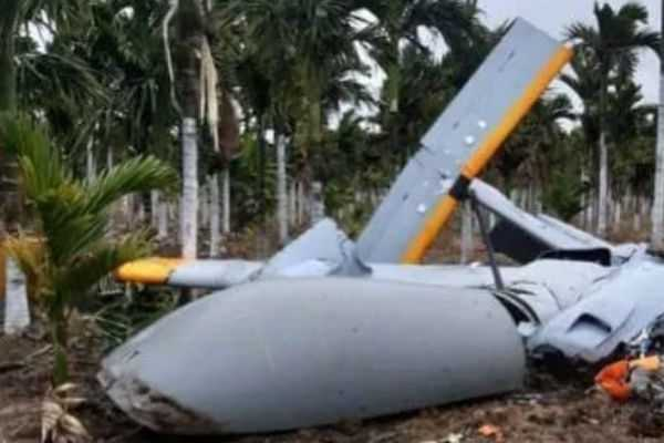 the-unmanned-military-plane-crashed