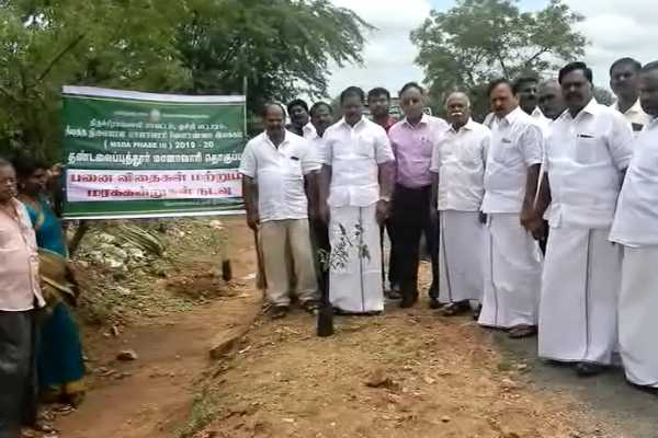 tree-planting-work-on-behalf-of-agriculture-department-near-musiri