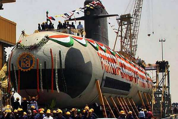 second-scorpene-class-submarine-ins-khanderi-to-be-inducted-in-the-indian-naval-service